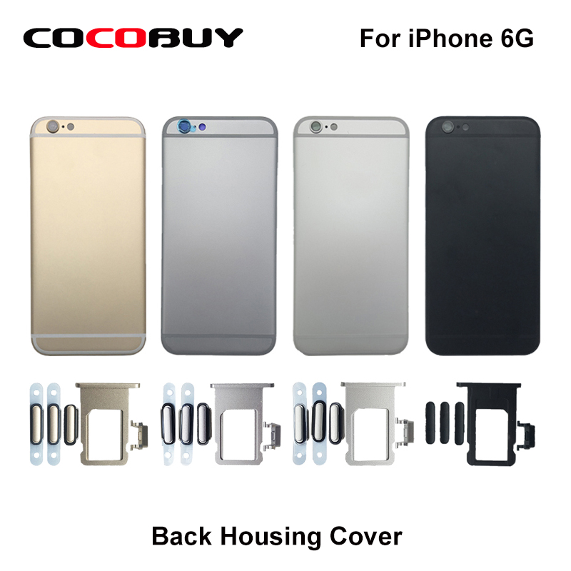 Free Shipping Back Battery Cover Rear Door Housing Case Replacement Carema Lens Side Buttons SIM Tray for Iphone 6G 6 Plus IMEI free shipping d5300 rear back cover shell for nikon d5300 with key buttons fpc flex cable camera repair parts