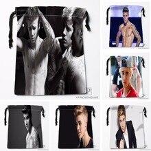 Custom Justin Bieber Drawstring Bags Printing Travel Storage Mini Pouch Swim Hiking Toy Bag Size 18x22cm#180412-11-58