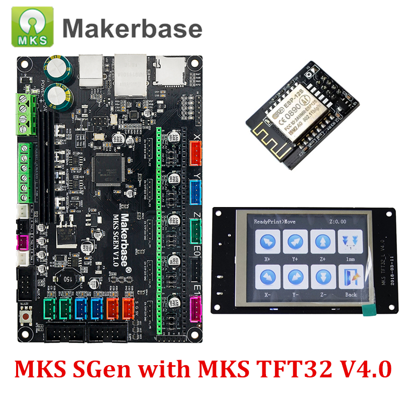 3D Printer Control Board MKS SGEN Smoothieboard with MKS TFT32 Display and MKS WiFi Module Run