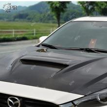цена на Carbon Hood For Mazda 3 Axela BM (2014-2017) MPS Style Carbon Fiber Hood Body Kit Tuning Part Trim Accessories For Mazda 3 BM