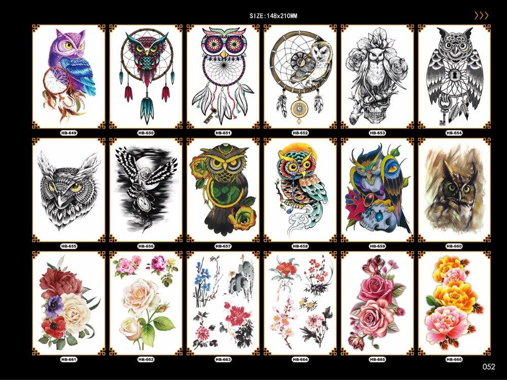 fresh color large temporary tattoos owl nice big flowers pattern environmental body leg chest stickers fake tattoo sleeves|fake tattoo sleeves|tattoo sleevetattoo sleeve pattern - AliExpress
