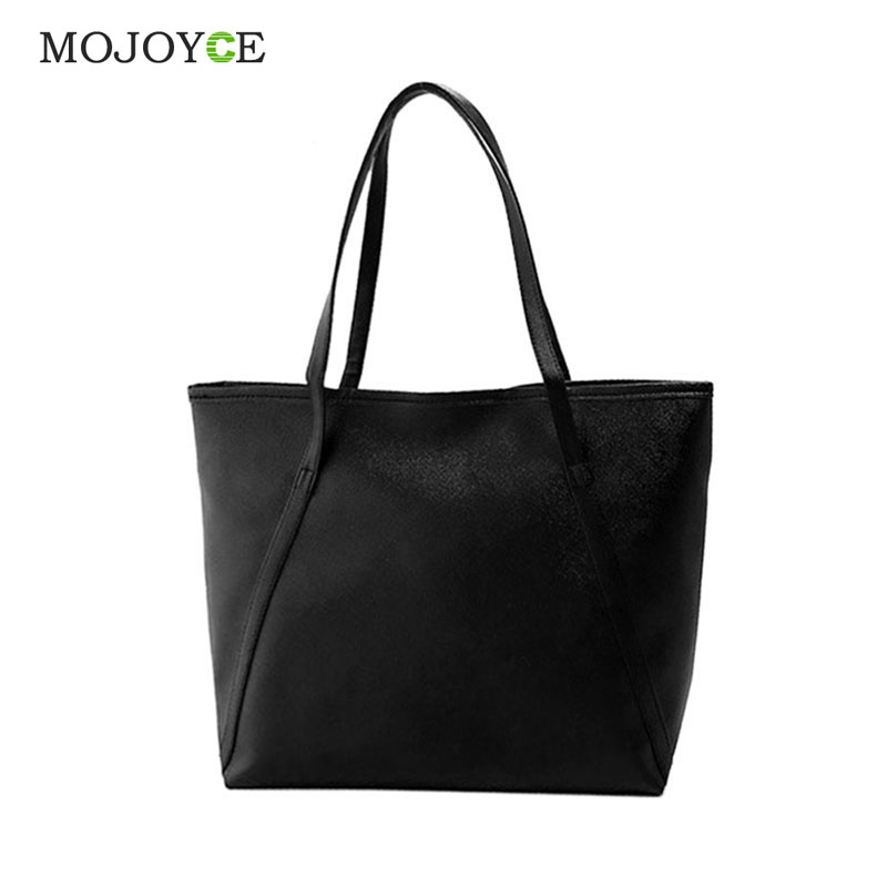 Simple Fashion Handbags Women Bags Solid Shoulder Tote Bags Big Tote Bolsa Women Leather Handbags Black Bucket bolsa feminina