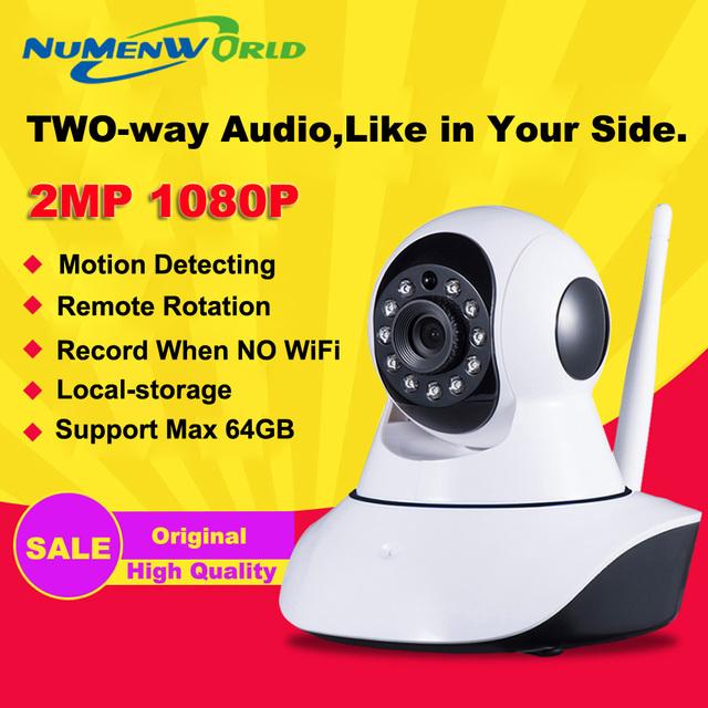 HD 1080 P Câmera IP wifi câmera de vigilância da câmera sd 64 GB camara IP camara p2p Sem Fio Wi-fi PTZ Câmera De Segurança gratuito grátis