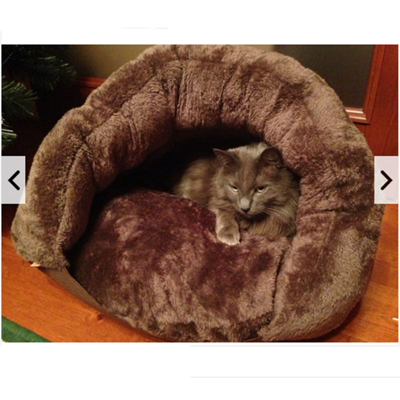 New Pet Soft Brown Dog Cat Bed House Winter Warming Nest Mat For Small Dogs Sleeping Bag Chihuahua Teddy Kennels Free shipping