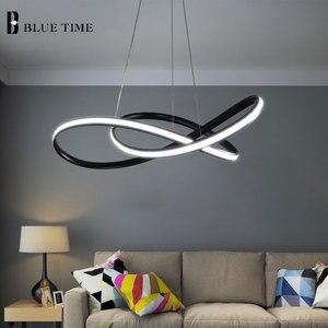 Image 4 - Lumière de pendentif LED moderne pour salle à manger salon chambre salle de café Lusture LED lumière intérieure suspension lampe luminaires