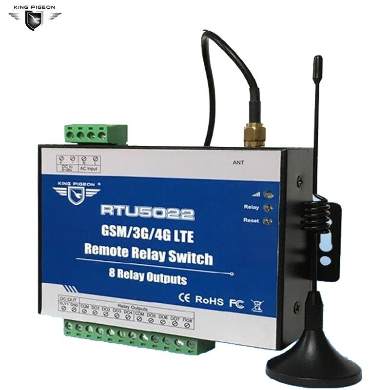 Interruptores de relé remoto RTU5022 de clase Industrial GSM/3G/4G SMS integrados protocolo TCP/IP adecuado para IOT dispositivos 8 salidas de relé - 2