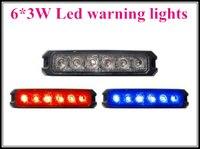 High Intensity DC10 30V 6 3W Led Car Surface Mount Grille Warning Light Strobe Lightheads Flashing