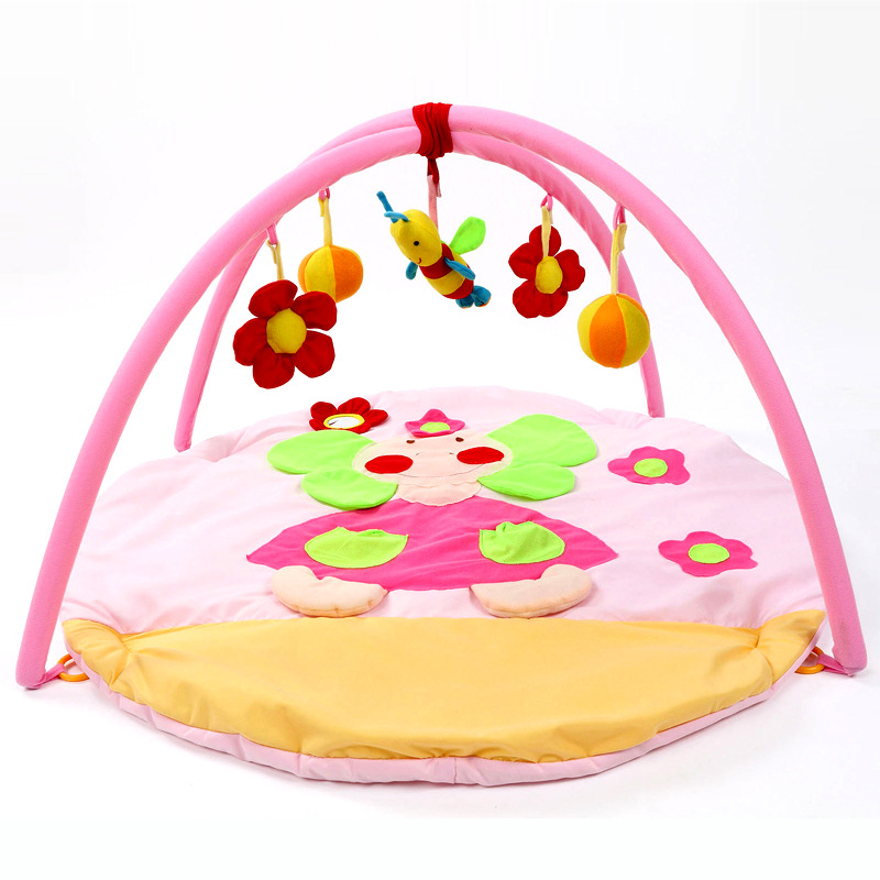 Cotton Baby Bee Toy Baby Kids Play Mats Indoor Baby Sports Crawling Pad Musical Activity Gym Play Blanket