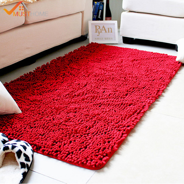 60x120cm 23 X47 Microfiber Chenille Area Rug For Living Room Absorbent And Dries