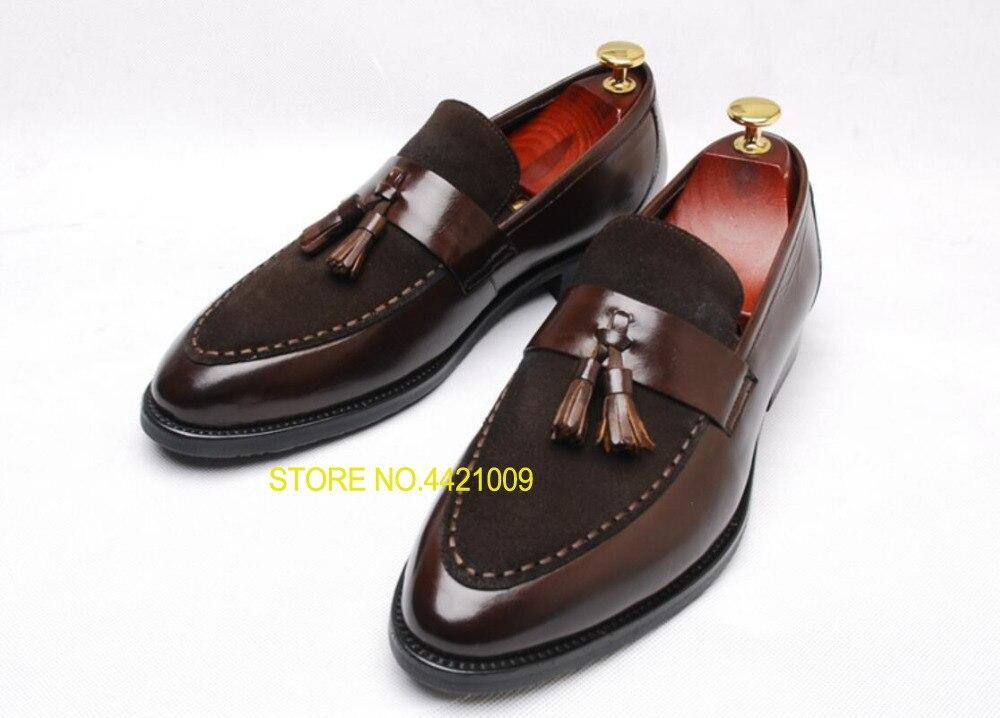 e5f8a5bb Vestir Borla 2 2018 Boda Mocasines Oxford On Hombres Genuino Formal Zapatos  Negro Casual Cocodrilo De Cuero ...