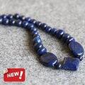 Новый Для Ожерелье 12 мм многоцветный Голубой Лазурит бусы Джаспер Ожерелье женщины девушки НЕФРИТА 18 дюймов дизайна Ювелирных Изделий оптовая