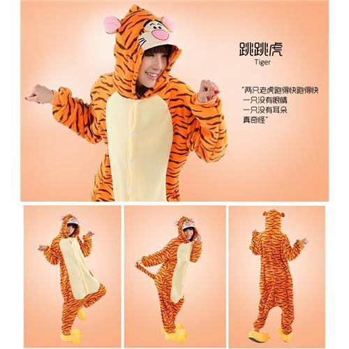 Cosplay Women and Men Pyjamas Onesie animals set Pajama Tigger Pajamas Christmas Pijama flannel pajamas S M L XL