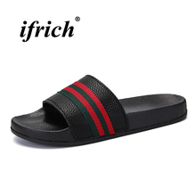 New Men Slippers Home Shoes Comfortable Summer Black White Indoor Cheap Massage Sandals