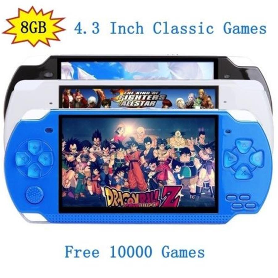 32bit 4.3 inch Handheld Game Console Video Game Player 8GB Built in 10000 Games