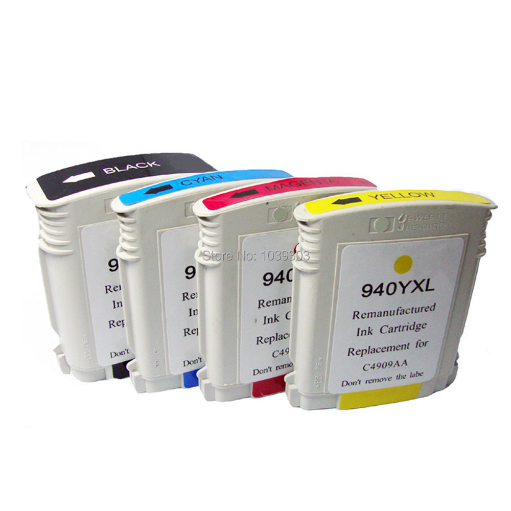 4x Compatible hp940 hp 940 XL C4906AA Ink Cartridges for HP Officejet Pro 8000 8500 8500a