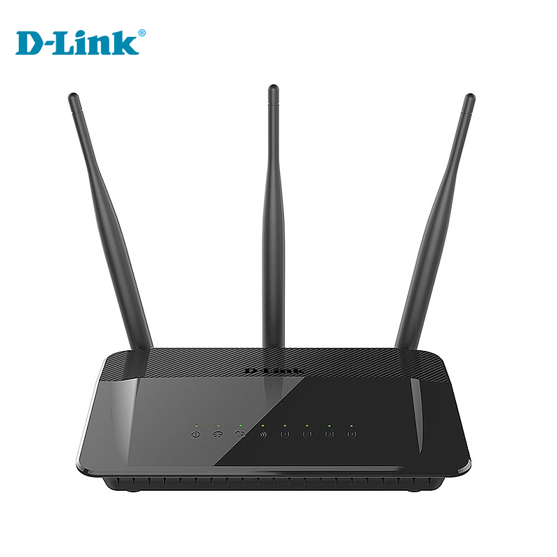 Original D-Link DIR-809 Home Wireless Router Original English Firmware Dlink 2.4G/5GHZ 750Mbs Three Antenna Router Discount