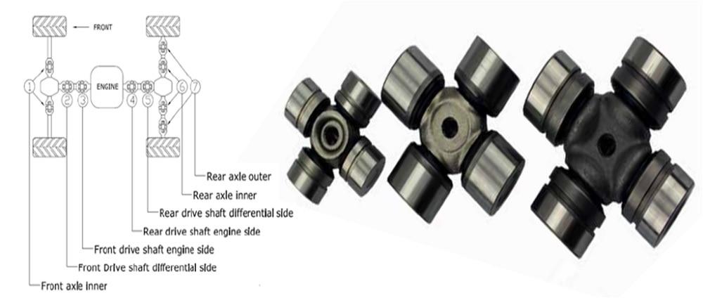 CAN-AM Maverick 1000 2013~2014 U-Joint Kit Rear Drive Shaft