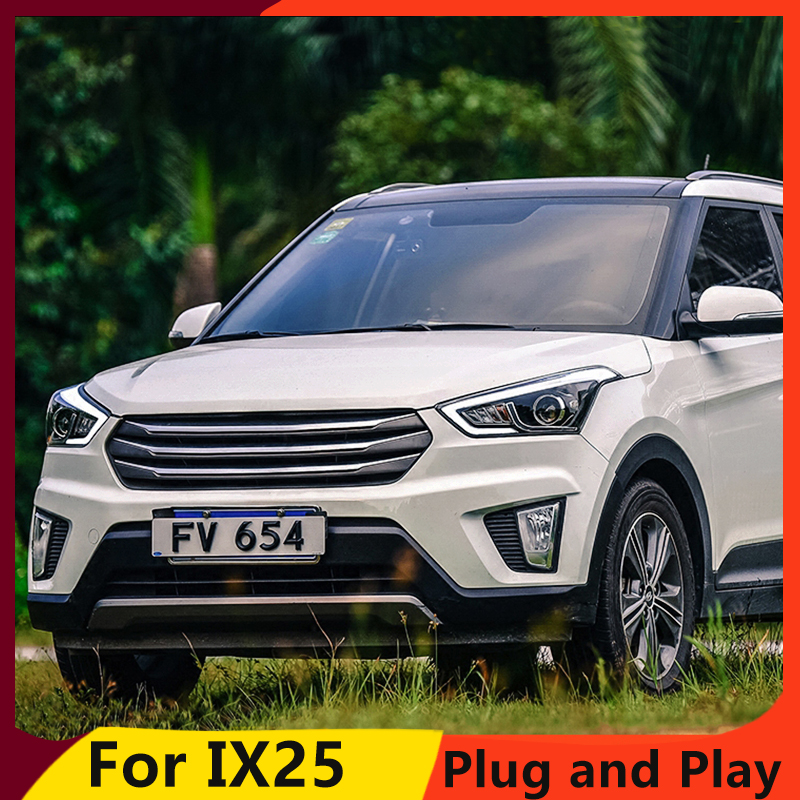 Image 4 - KOWELL Car Styling for Hyundai IX25 Headlights 2015 2017 Creta LED Headlight DRL Daytime Running Light Bi Xenon HID Accessories-in Car Light Assembly from Automobiles & Motorcycles