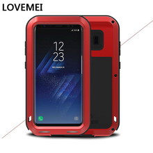 Love Mei For Samsung S8 Case Luxury Aluminum Metal+Silicone TPU Armor Protective Back Phone Case For Samsung S8 Plus Case Cover