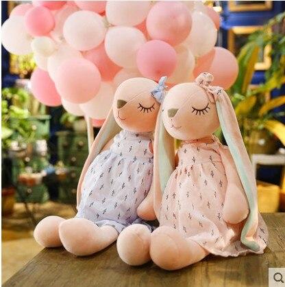 New Fashion Plush Toy Rabbit Doll Long-eared Rabbit Lovely Dollsleep For  Girl Pillow Birthday Gift