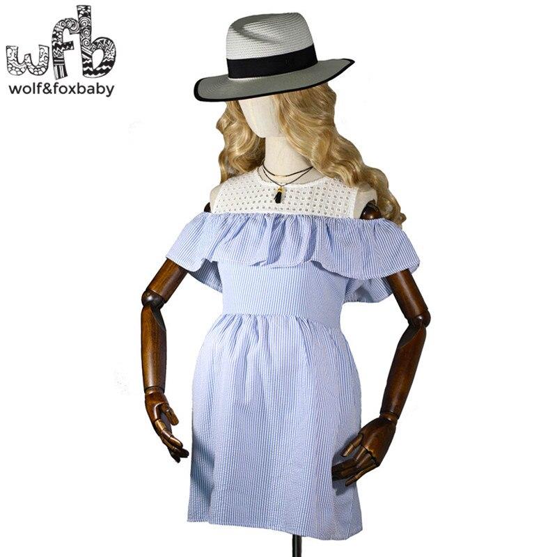 Retail Pregnant women Large size dress vertical stripes short sleeve o-neck preppy style dress summer