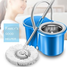 Practical Home Use Magic Floor Cleaning Mop 360 Degree Rolling Spin Self-Wring Fiber Cotton Head Set