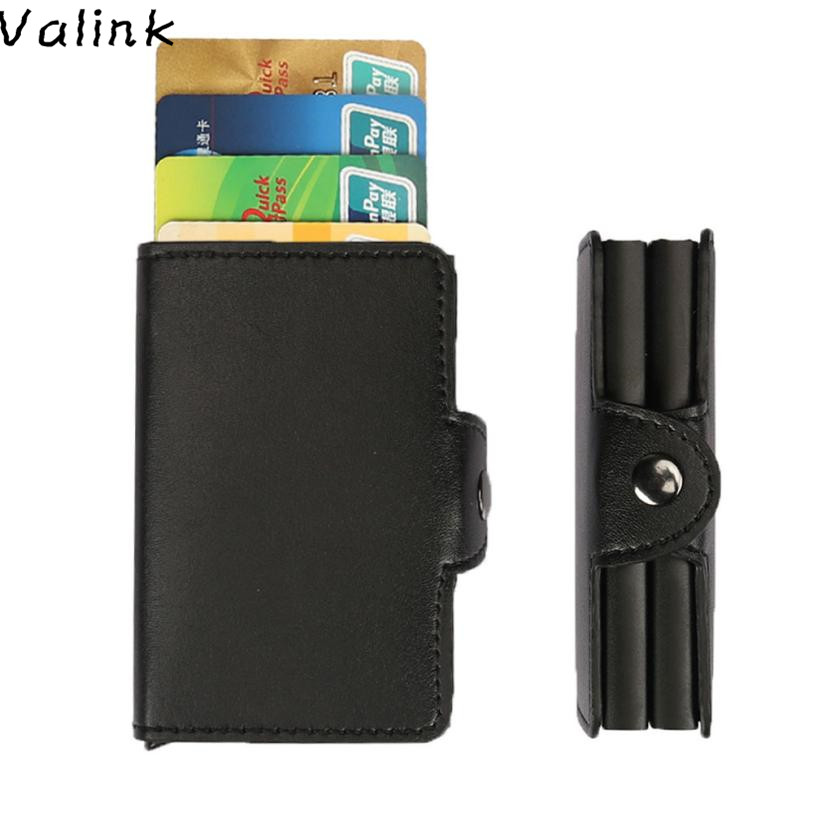Valink 2018 Slim Wallet ID Credit Card Protector Leather Wallet Card Holder Package Box Business Card Holder Carteira Masculina travel slim wallet business card
