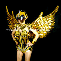 Catwalk Shows Carnival Victoria Cabaret Stage Performance Clothes Wing Headwear Wings Costumes Set For Women Cosplay Suit