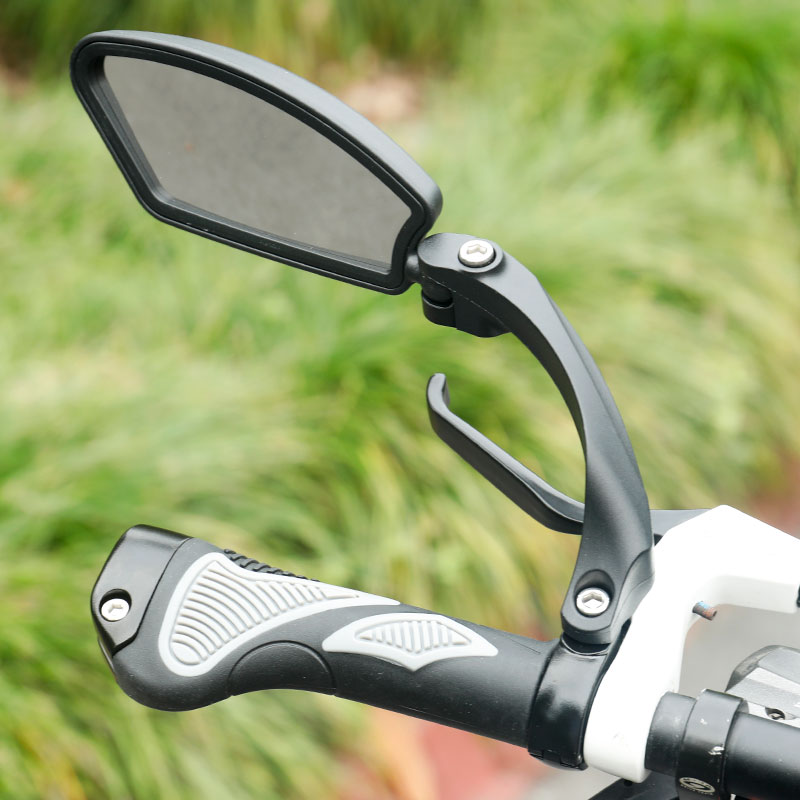 Image 5 - Unbreakable Stainless Steel Lens 1PC Bicycle Rear View Mirror Clear Wide Range Back Sight Bike Reflector Angle Adjustable HafnyBike Mirrors   -