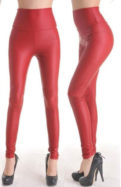 Fashion-Red-Faux-Leather-Leggings-LC7748-3-1