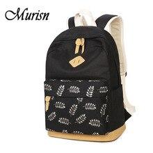 Печати рюкзак холст рюкзаки для подростков модная одежда для девочек Женский Рюкзак Детские подростковые школьные сумки для подростков Mochila