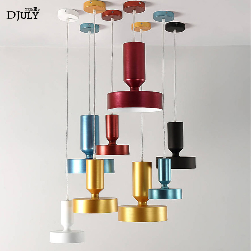 art deco colorful combination seal aluminum pendant lights for bedroom corridor modern hanging lamp living room light fixturesart deco colorful combination seal aluminum pendant lights for bedroom corridor modern hanging lamp living room light fixtures
