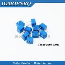 цена на 50Pcs/Lot 3362P-1-201LF 3362P 201 200R ohm Trimpot Trimmer Potentiometer Variable resistor new original