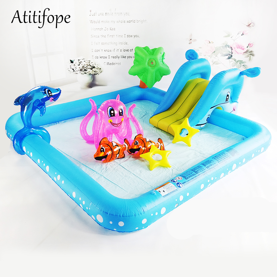 High quality Inflatable Pool for baby water paly kids Slide toy best birthday party gifts for