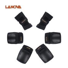 LANOVA 6pcs/set Adults Skating Protective Gear Elbow Knee pads wristguard Cycling Skateboard Ice Roller Protector