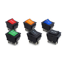 Rocker Switch Power 3 Position 6 Pins With Light 16A 250VAC/ 20A 125VAC