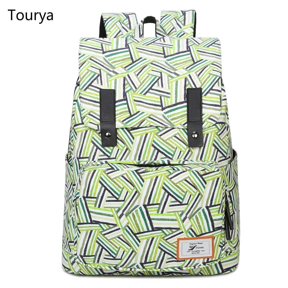 Tourya 패션 백팩 여성 백팩 인쇄 학교 가방 어깨 책가방 소녀 escolar mochilas 노트북 가방