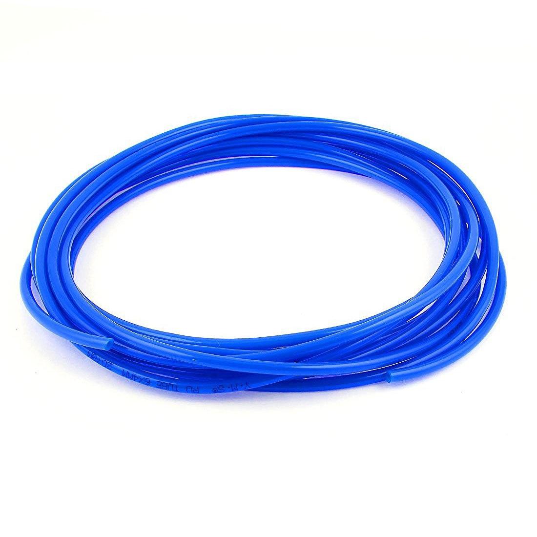 Polyurethane PU Air Compressor Hose Tube 7 Meter 6mm x 4mm Royal Blue