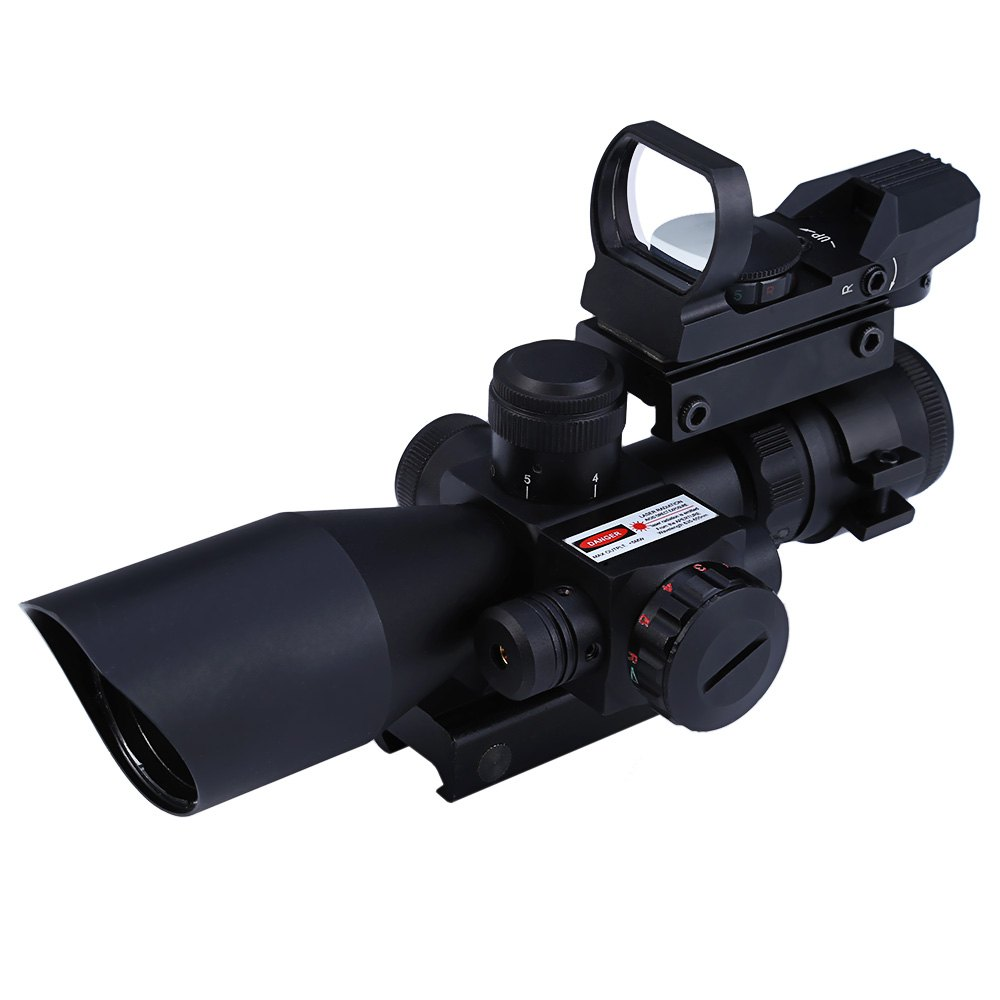 Outlife Hunting 2.5 - 10X40 Tactical Optics Riflescope Red / Green Laser Dual Illuminated Scope Mil-dot 20mm Rail Mount hot sale 2 5 10x40 riflescope illuminated tactical riflescope with red laser scope hunting scope page 1