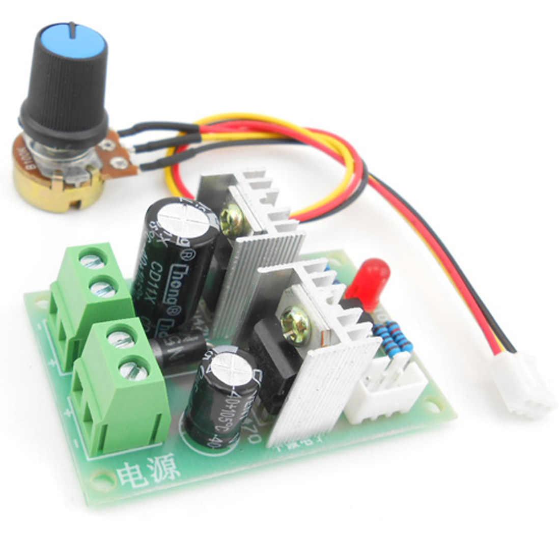Мини DC 10 в 40 3A 100 Вт ШИМ контроллер скорости двигателя постоянного тока модуль