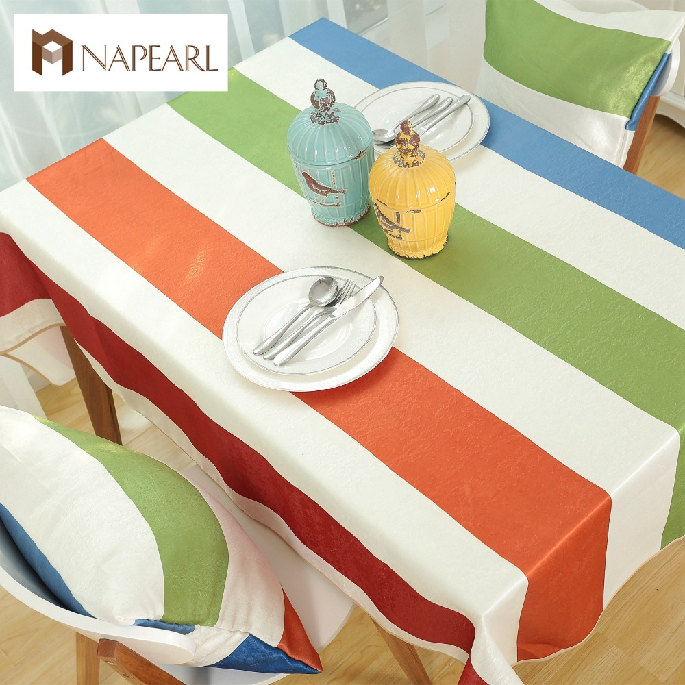 modern colorful striped tablecloths large family dining table cloth tablecloth nappe de table in. Black Bedroom Furniture Sets. Home Design Ideas