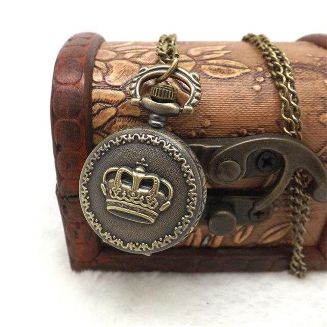 2018 NEW Vintage Charm Unisex Pocket Watch Chain Vintage Retro Bronze Quartz Poc