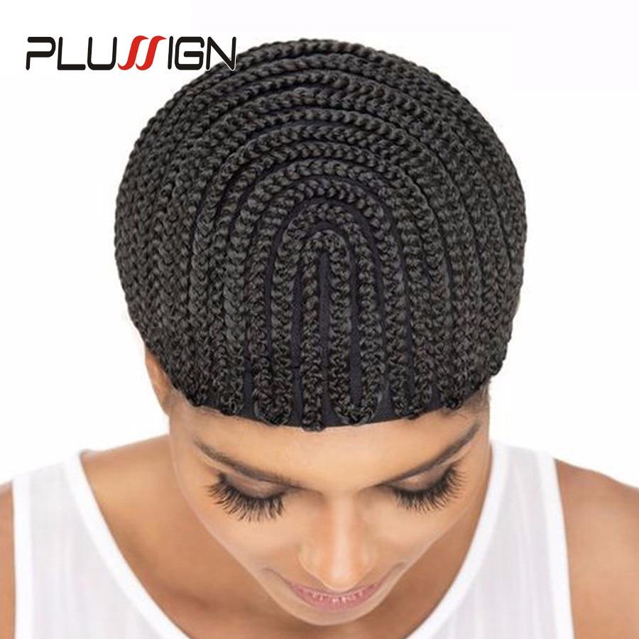 Wholesale 1pc Horseshoe Box Braided Cornrow Wig Cap