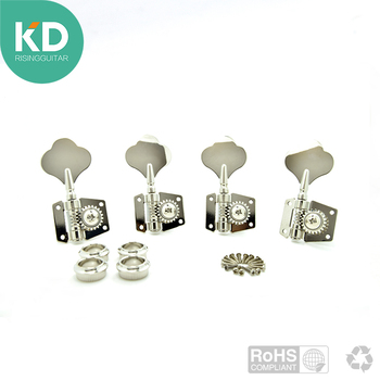 цена на Nickel Vintage 4/5 string Jazz Precision Bass Tuning Pegs Open Geared Bass Tuners Machine Head P Bass Replacement left hand bass