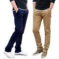 2017 Hombres pantalones casuales Corea moda casual 100% Pantalones de algodón/tamaño 29-35/8 colores