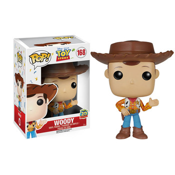 Funko POP Disney Anime toy story 4 Woody #168 PVC Action Figures brinquedos Collection Model Toys for Children Xmas gift