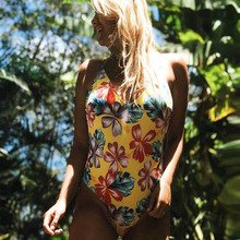 TCBSG 2019 New Sexy One Piece Swimsuit Plus Size Swimwear Women Beach Monokini Push Up Swimsuit Retro Bathing Suit Swim Wear