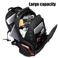Osmond Large Capacity Men's Backpacks USB Interface Multifunction Travel Back pack Waterproof Laptop School Backpack Mochila