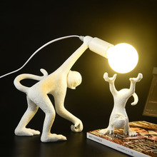 Modern Nordic Resin Monkey Lamp LED Table Lights Living Room Restaurant Bedroom Decor lamps Kitchen Fixtures Suspension
