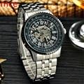 MCE Men Watches Top Brand Full Stainless Steel Water Resistant Skeleton Mechanical Wrist watches for men Erkek Kol Saatleri 2016